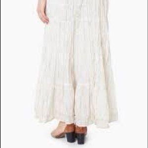 Le chateau boho lace tiered maxi skirt